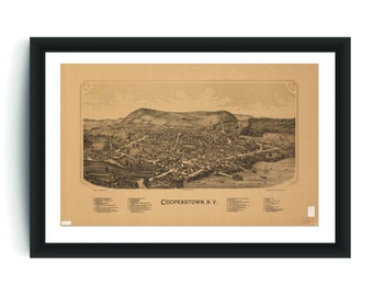 Vintage Waterville Print Aerial Waterville Photo Ol Vintage Waterville NY Pic