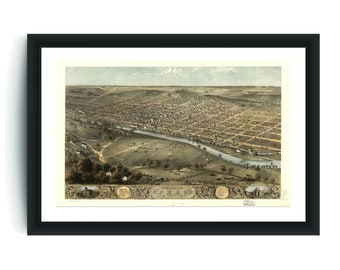 9d4db531c Vintage Peru Print, Aerial Peru Photo, Vintage Peru IN Pic, Old Peru Photo,  Peru Indiana Poster, 1868