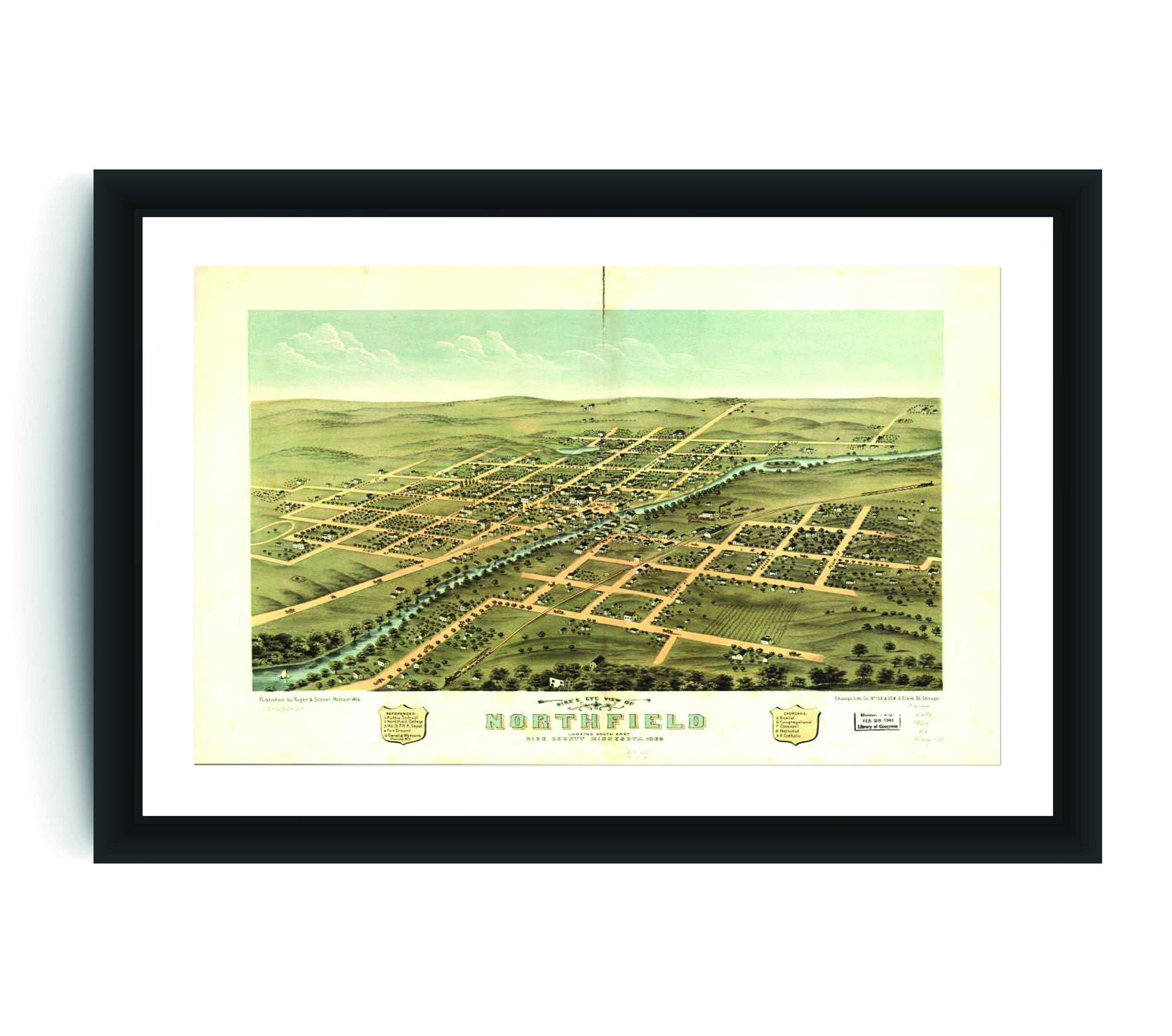 24x36 Vintage Historic Map Downingtown Pennsylvania 1893