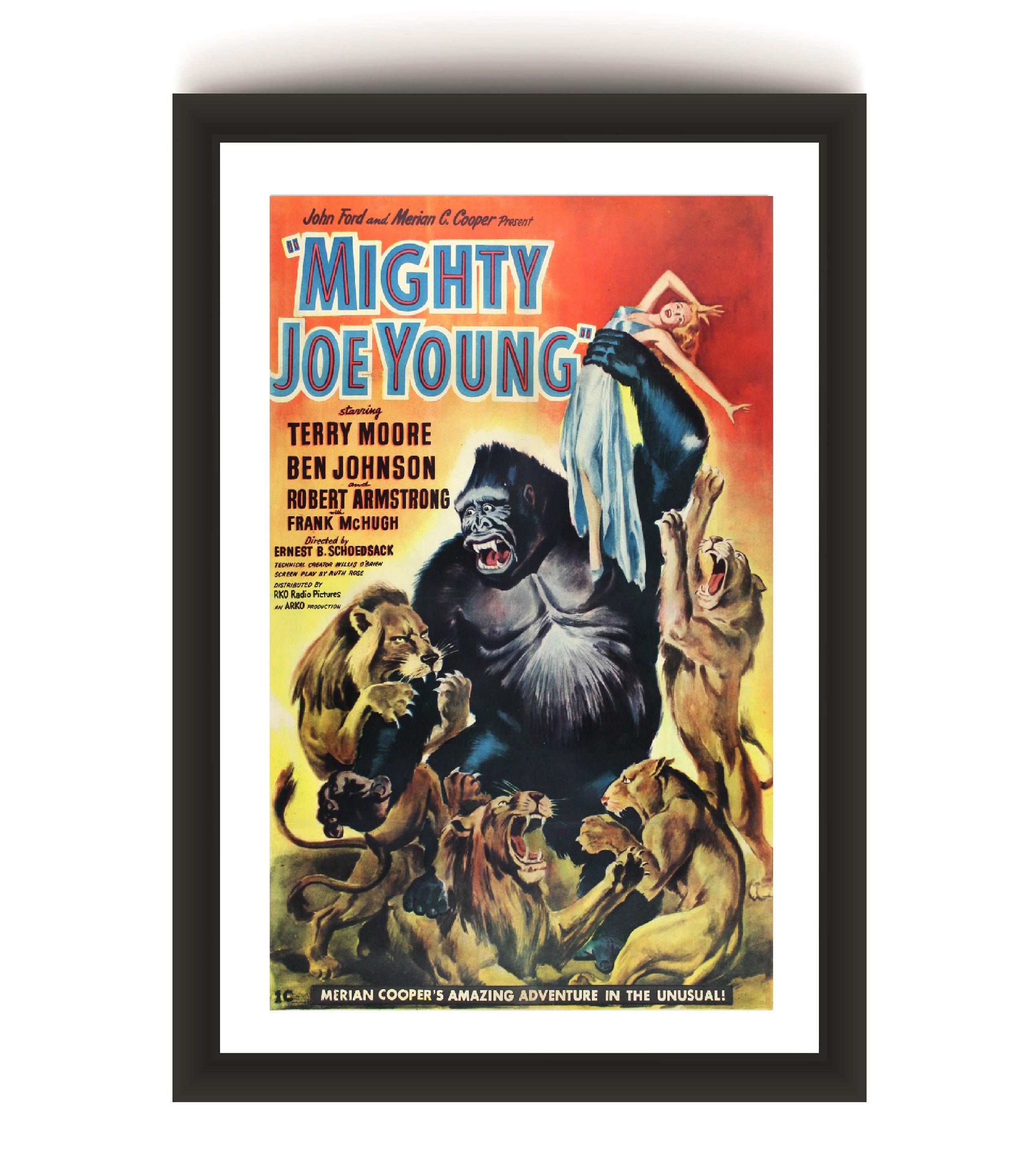 vintage movie poster MIGHTY JOE YOUNG fantasy ANIMALS terry moore 24X36 RARE