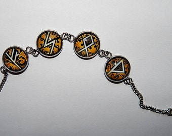 Runic bracelet, runic talisman, runic amulet, runic formulas bracelet, Runic Protective formulas, viking runic, fehu soul otal wunjo runes