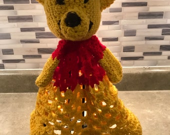 Winnie the Pooh lovey security blanket