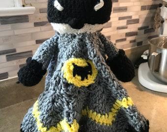 Batman lovey security blanket