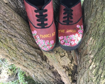 3318adb3 Hand Painted Panic! At The Disco Shoes