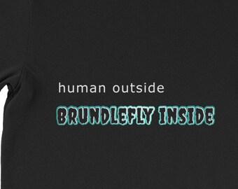 Brundlefly Shirt Horror Movie T Shirt Based on The Fly
