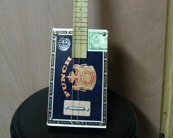 3-String Fretless Cigar Box Guitar