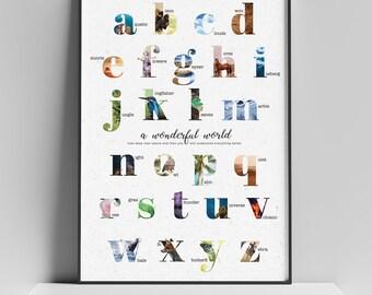 Natural Alphabet Poster