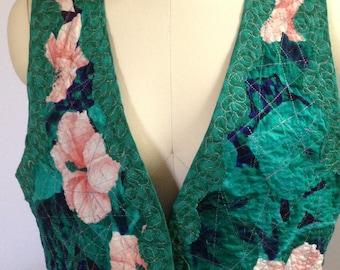 1980's Vintage Quilted Vest