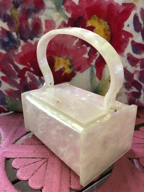 Lucite Handbags/Vintage Lucite Handbags/50's Lucit