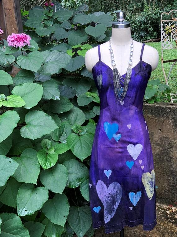 TIE DYE Handpainted Slip Dresses/Hippie Dresses/Bo