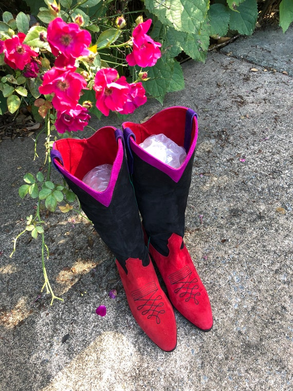 Womens Boots/Suede Boots/Womens Western Boots/80'… - image 7