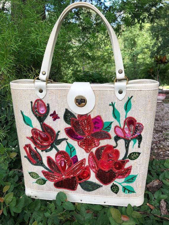 ENID COLLINS Style Roses Handbag/Rose Handbag/Rose