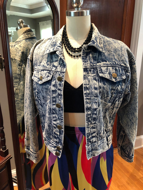 80s Dresses | Casual to Party Dresses Acid Wash Short Denim Jacket80s Acid Wash JacketVintage 80s Crop JacketNear Mint Condition $65.00 AT vintagedancer.com