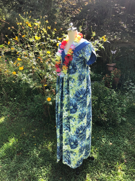 HAWAIIAN MUMU/70's Hawaiian Mumu/Hawaiian Dresses/