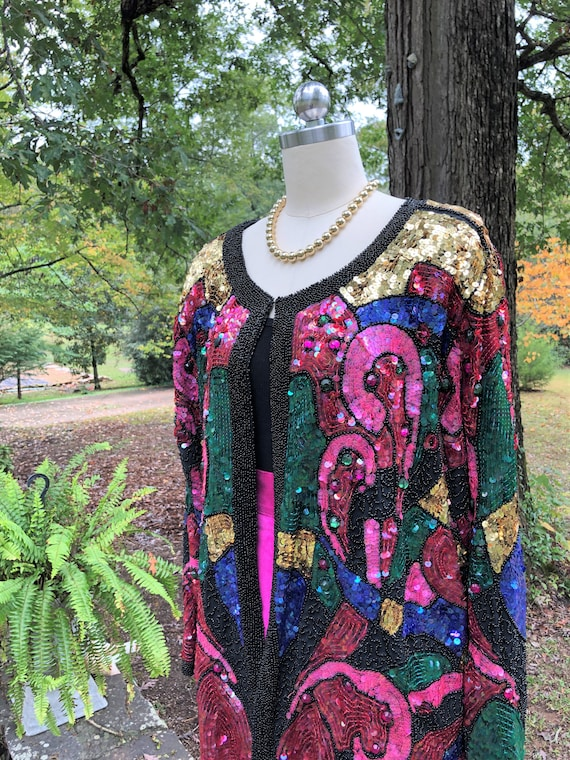 COLLECTIBLE CELEBRITY Sequin Jacket/Blanch Golden