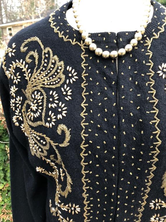 50's Vintage Sweater/50's Vintage Cardigan/50's S… - image 5