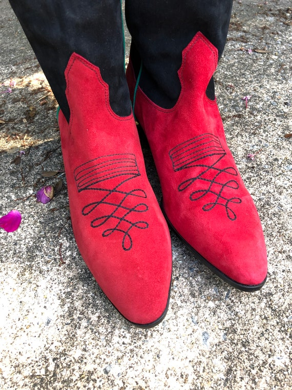 Womens Boots/Suede Boots/Womens Western Boots/80'… - image 8