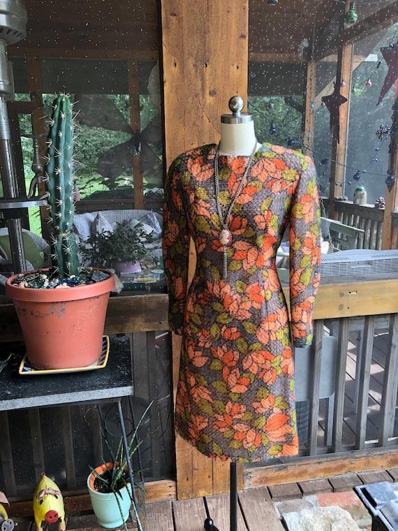 60's FLOWER POWER MOD Dress/60's Mod Dresses/60's