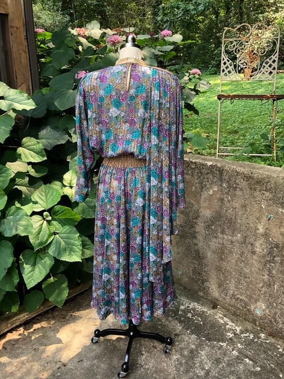 UNIQUE DIANE FREIS Dress with Scarf/Diane Freis/8… - image 5