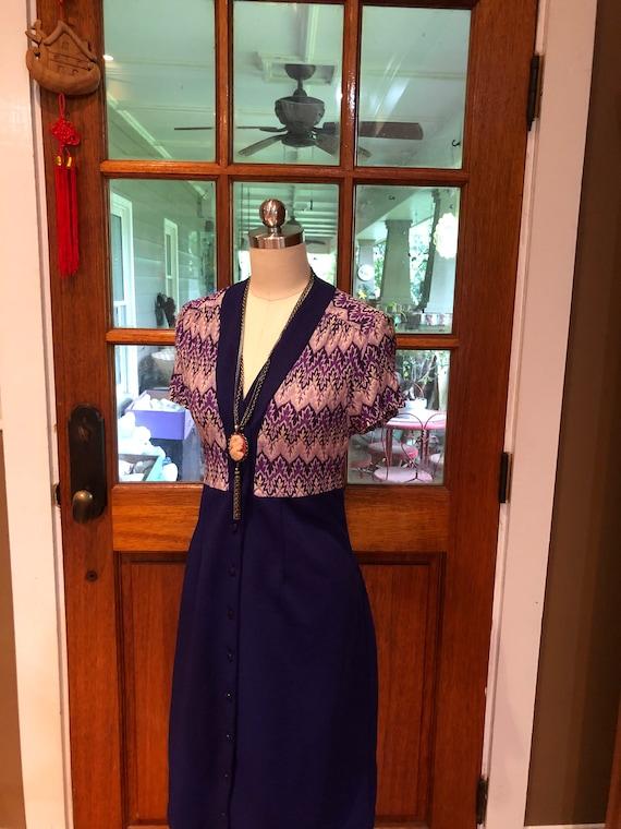 70's PURPLE SHIRTDRESS/70's Dresses/Vintage Dress… - image 7
