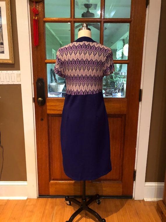 70's PURPLE SHIRTDRESS/70's Dresses/Vintage Dress… - image 3