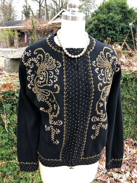 50's Vintage Sweater/50's Vintage Cardigan/50's S… - image 2