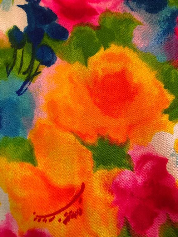 60's GORGEOUS Handmade MINI/60's Spring Flowers D… - image 9