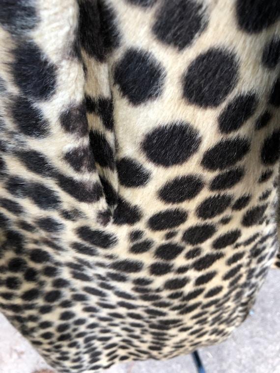 Vintage Leopard Coat/60's Leopard Coat/Faux Leopa… - image 7