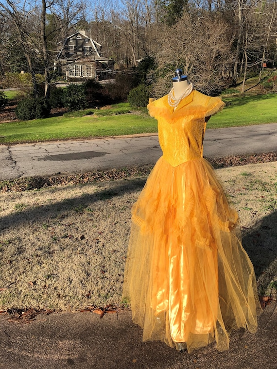 50's PROM GOWNS/50's Prom Dress/50's Tulle Prom/T… - image 8