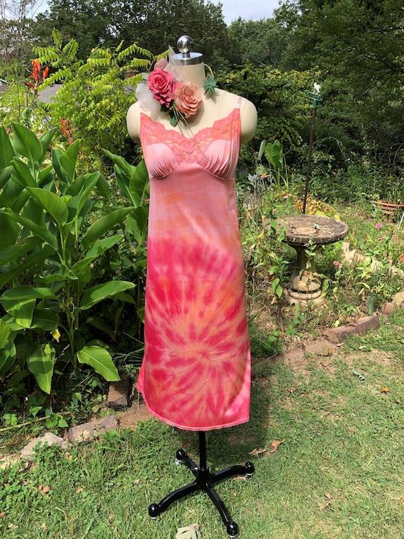 TIE DYE Slips/Hippie Dresses/Boho Dresses/Slip Dre