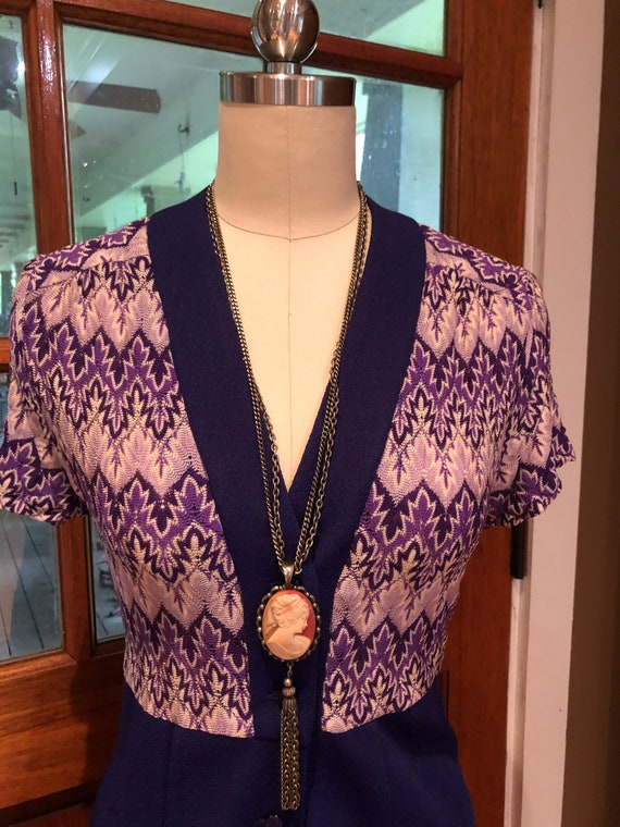 70's PURPLE SHIRTDRESS/70's Dresses/Vintage Dress… - image 9