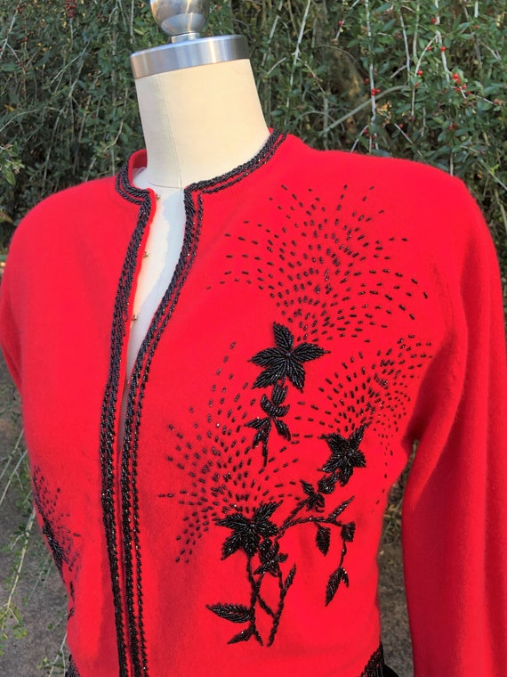 50's Vintage Sweater/Rockabilly Sweaters/Pinup Swe