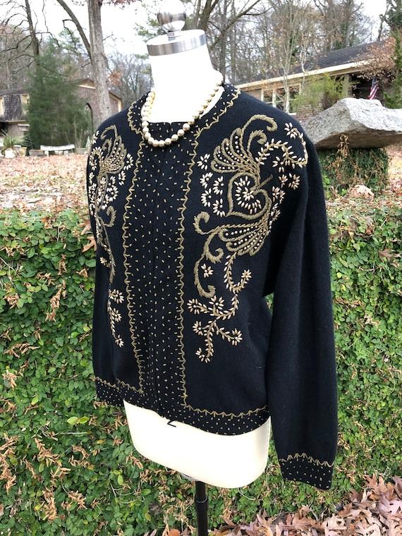 50's Vintage Sweater/50's Vintage Cardigan/50's S… - image 4