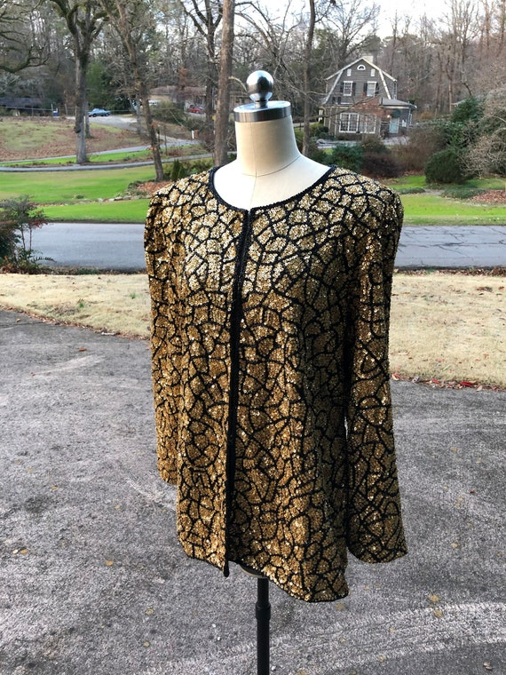 80's Sequin Jackets/80's Beaded Jackets/Sequin Top
