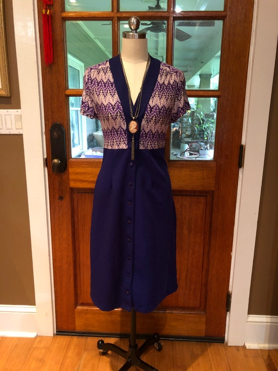 70's PURPLE SHIRTDRESS/70's Dresses/Vintage Dress… - image 8