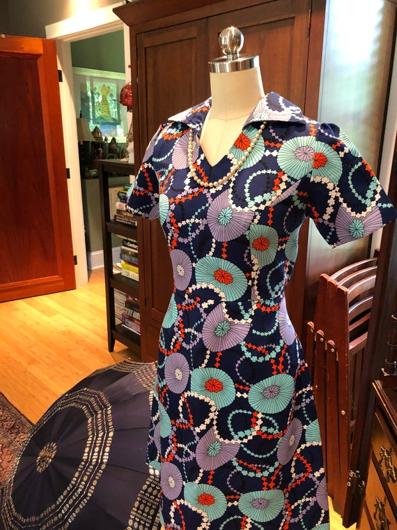 70's MOD Handmade Umbrella Dress/Vintage Umbrella