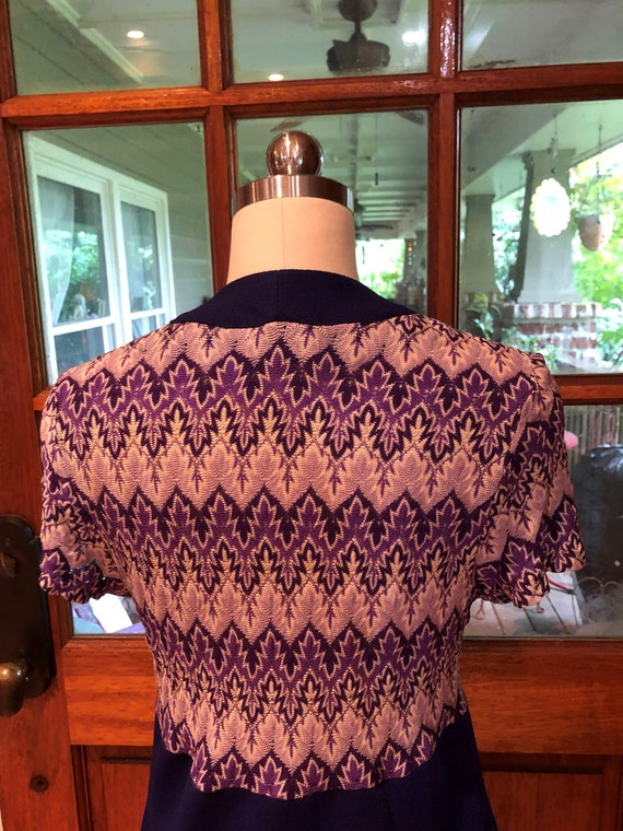 70's PURPLE SHIRTDRESS/70's Dresses/Vintage Dress… - image 6