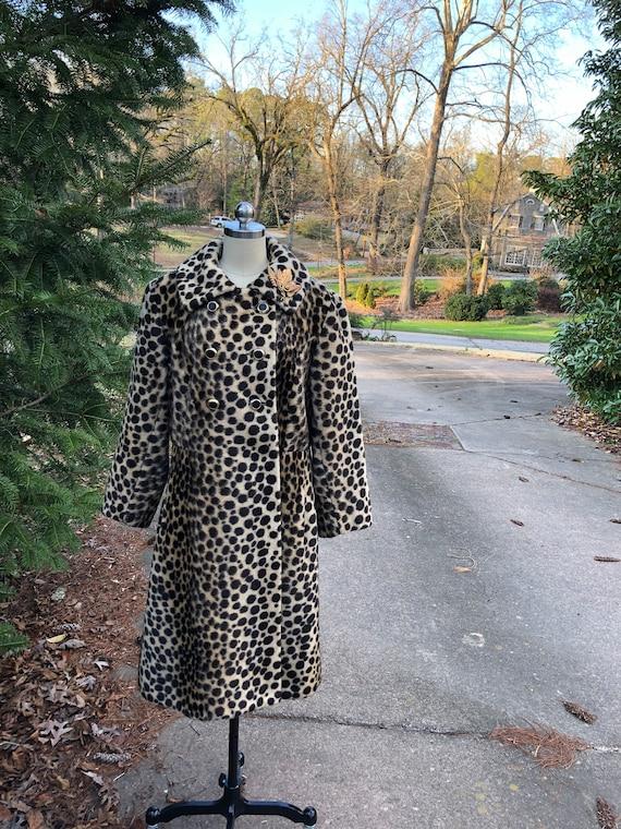 Vintage Leopard Coat/60's Leopard Coat/Faux Leopa… - image 10