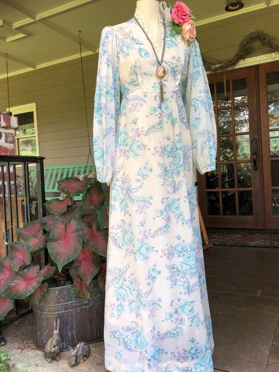 GUNNE SAX Style Dress/Gunne Sax Style Long Dresse… - image 10