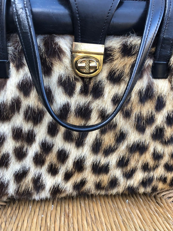Leopard Print Fur Purses/Leopard Purses/Leopard Ha