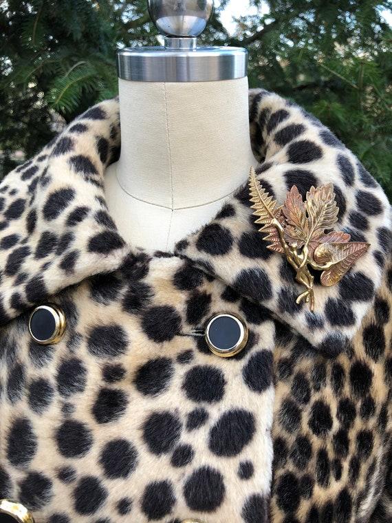 Vintage Leopard Coat/60's Leopard Coat/Faux Leopa… - image 2
