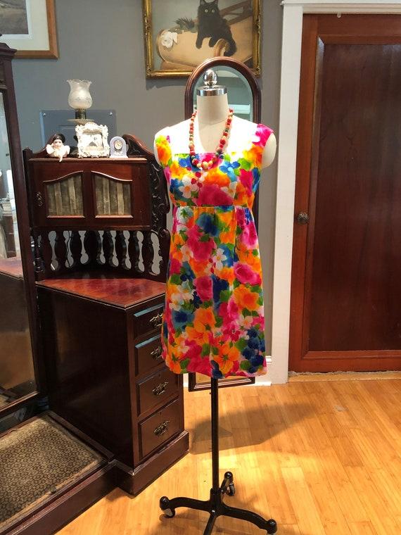 60's GORGEOUS Handmade MINI/60's Spring Flowers D… - image 2