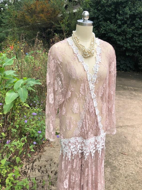 JESSICA MCCLINTOCK Pink Lace Dress/Jessica Mcclin… - image 2