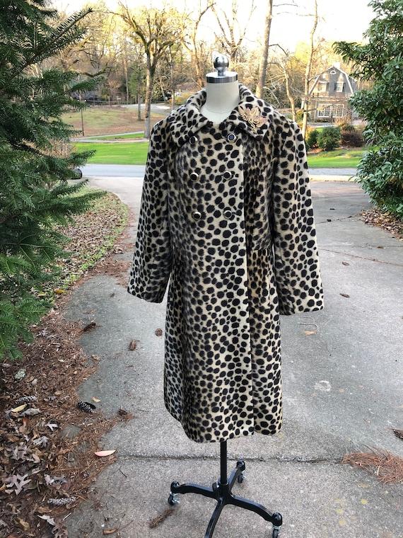 Vintage Leopard Coat/60's Leopard Coat/Faux Leopar