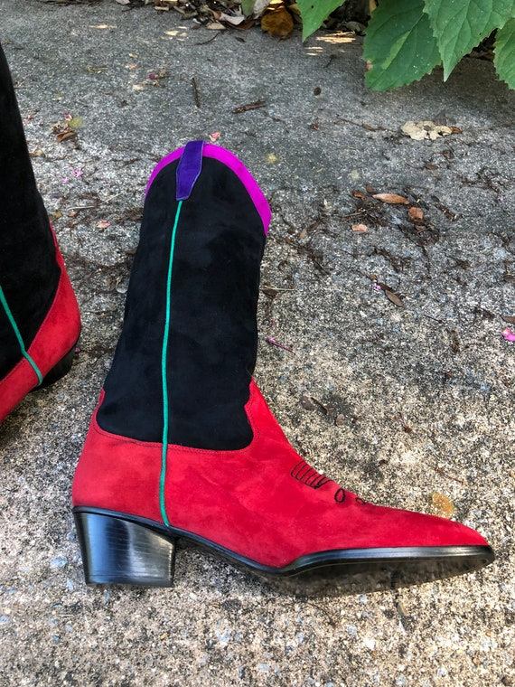 Womens Boots/Suede Boots/Womens Western Boots/80'… - image 3
