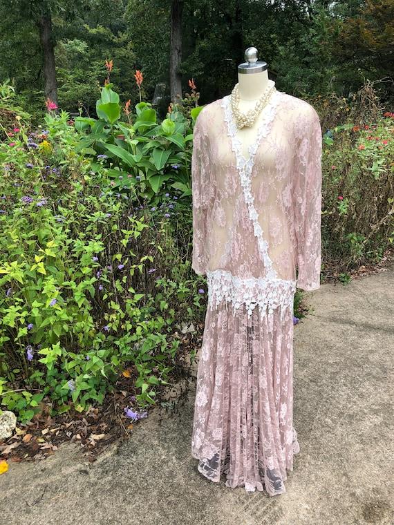 JESSICA MCCLINTOCK Pink Lace Dress/Jessica Mcclin… - image 6