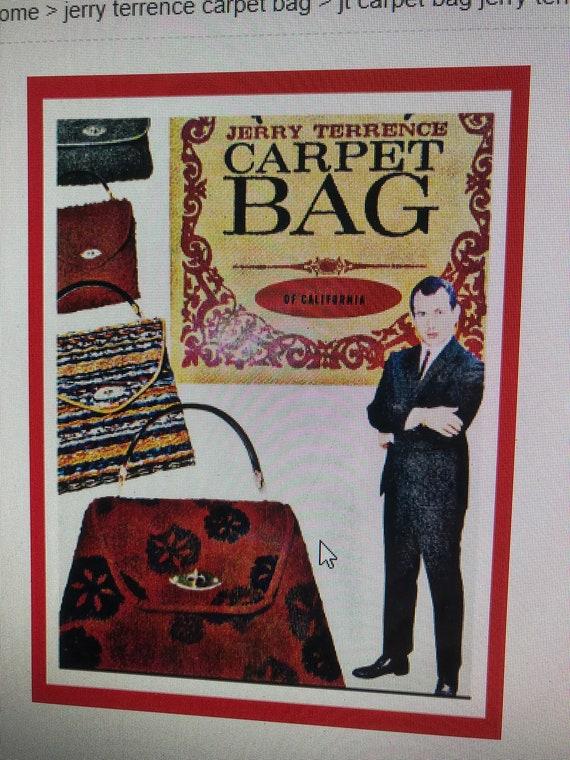 Jerry Terrence CARPET BAG Purses/Vintage Carpet B… - image 8
