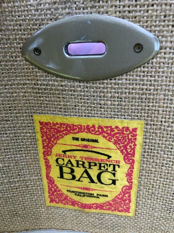 Jerry Terrence CARPET BAG Purses/Vintage Carpet B… - image 3