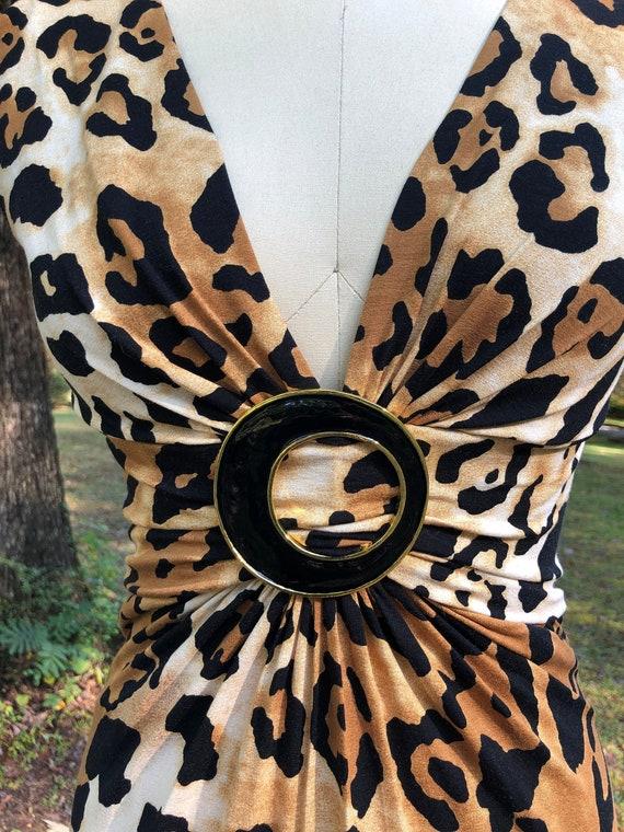 CACHET Leopard Dress/80's Leopard Dresses/80's Dre