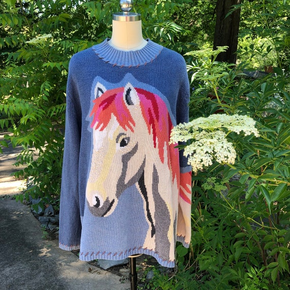 Horse Sweaters/80's Sweaters/Christopher and Banks